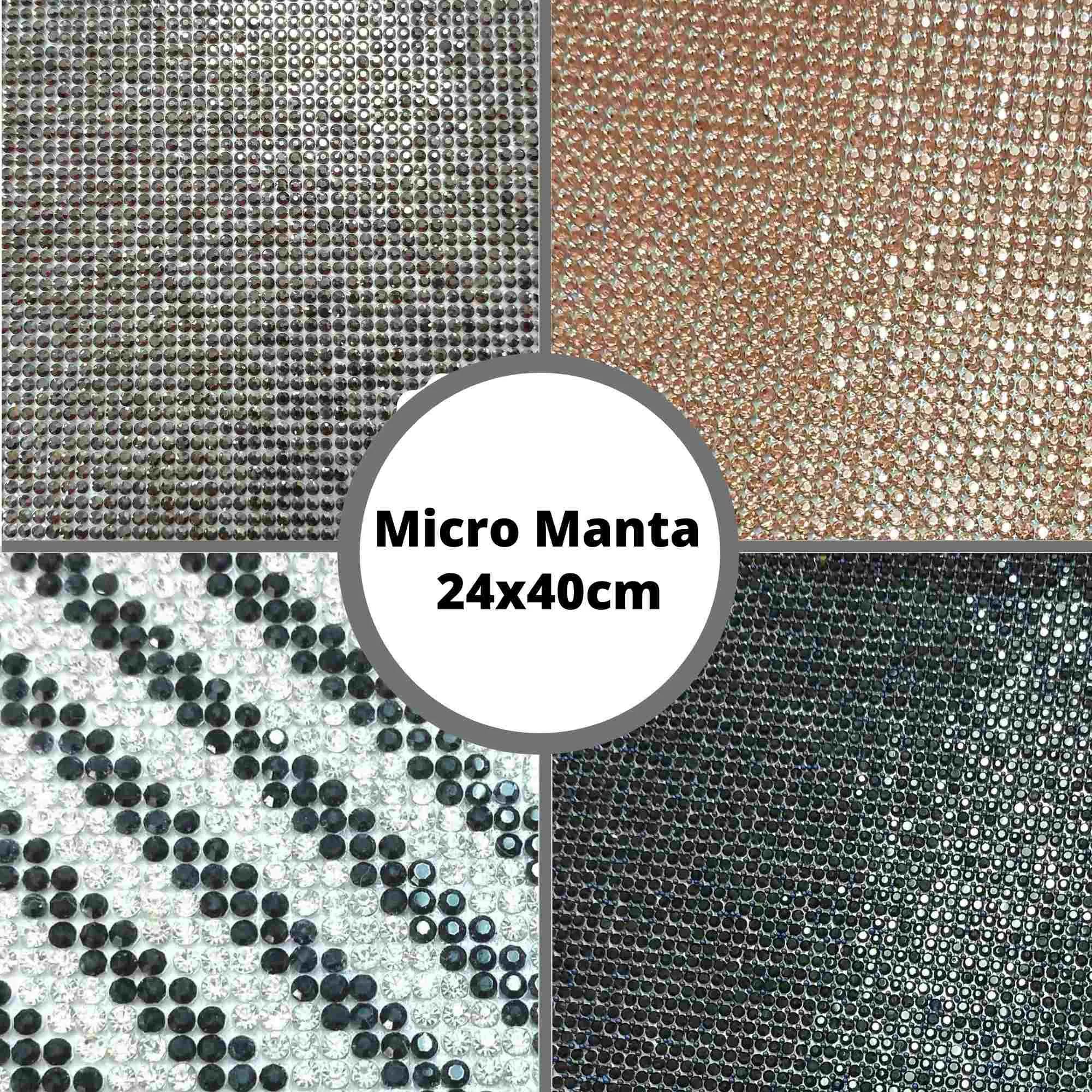 Micro Manta c/ Strass - Tamanho 24x40cm - 1 unidade