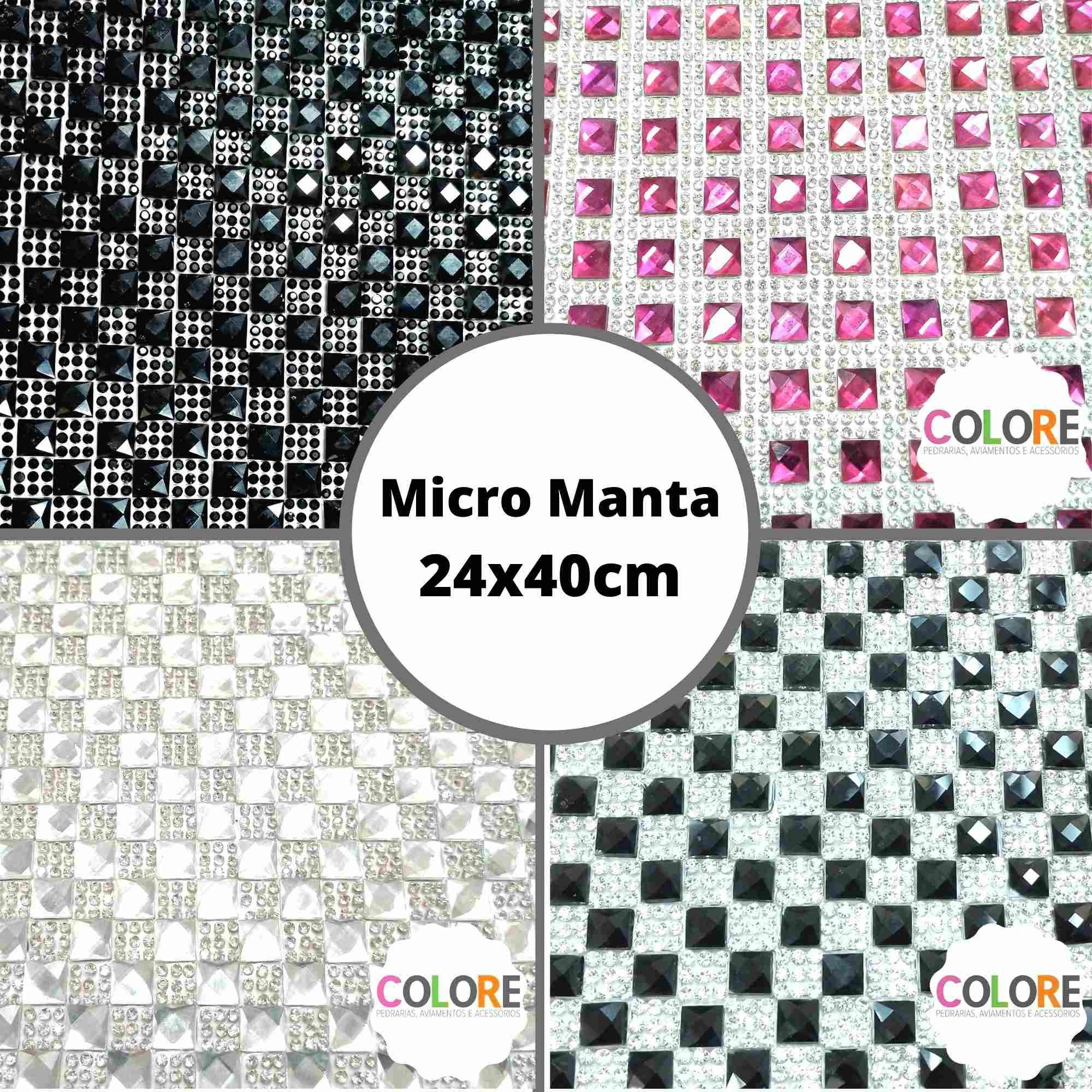 Micro Manta Quadrada - Tamanho 24x40cm - 1 unidade