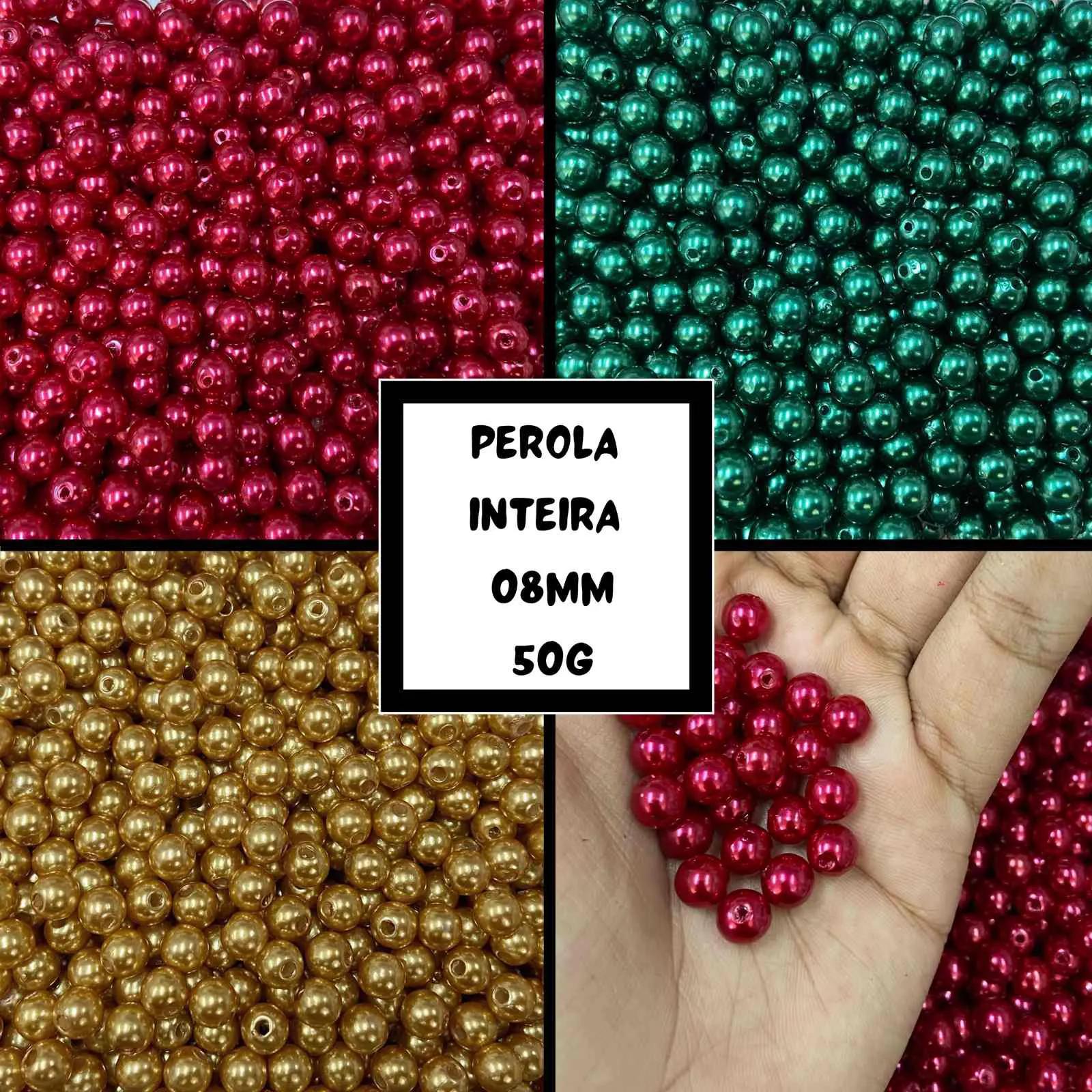 Perola Inteira 08mm - Pacote 50g
