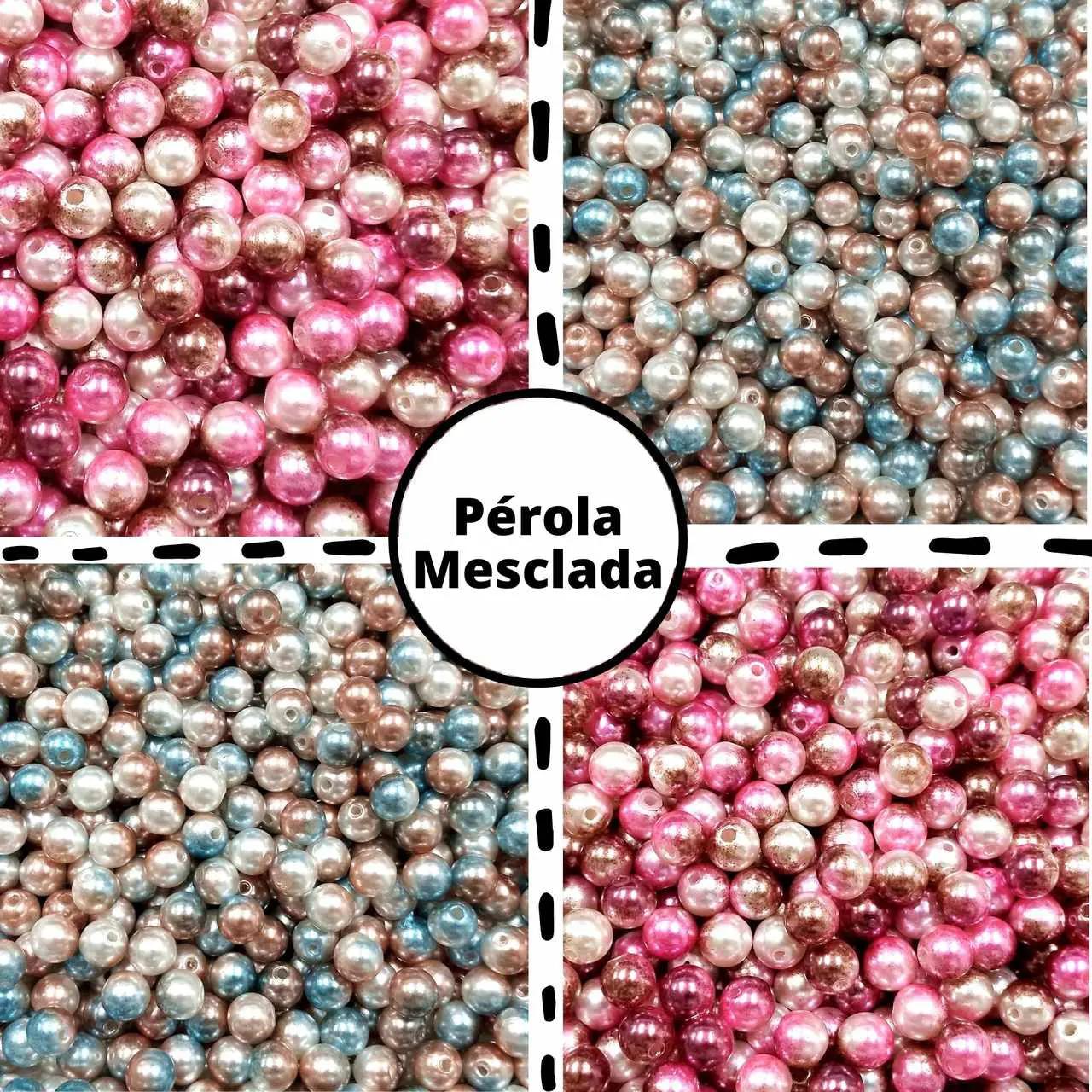 Pérola Mesclada 8mm - Pacote c/ 25g