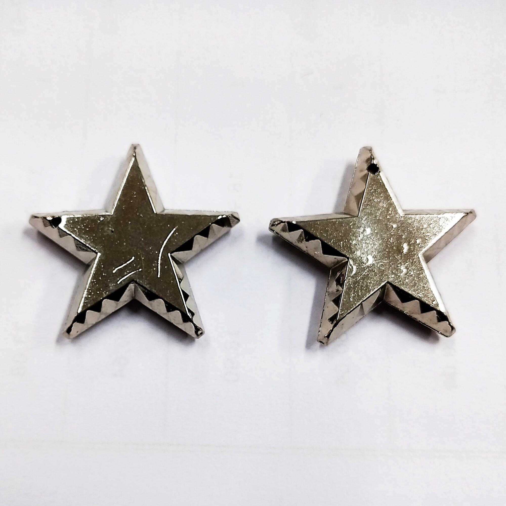 Pingente ABS Estrela 25 Unidades 30mm