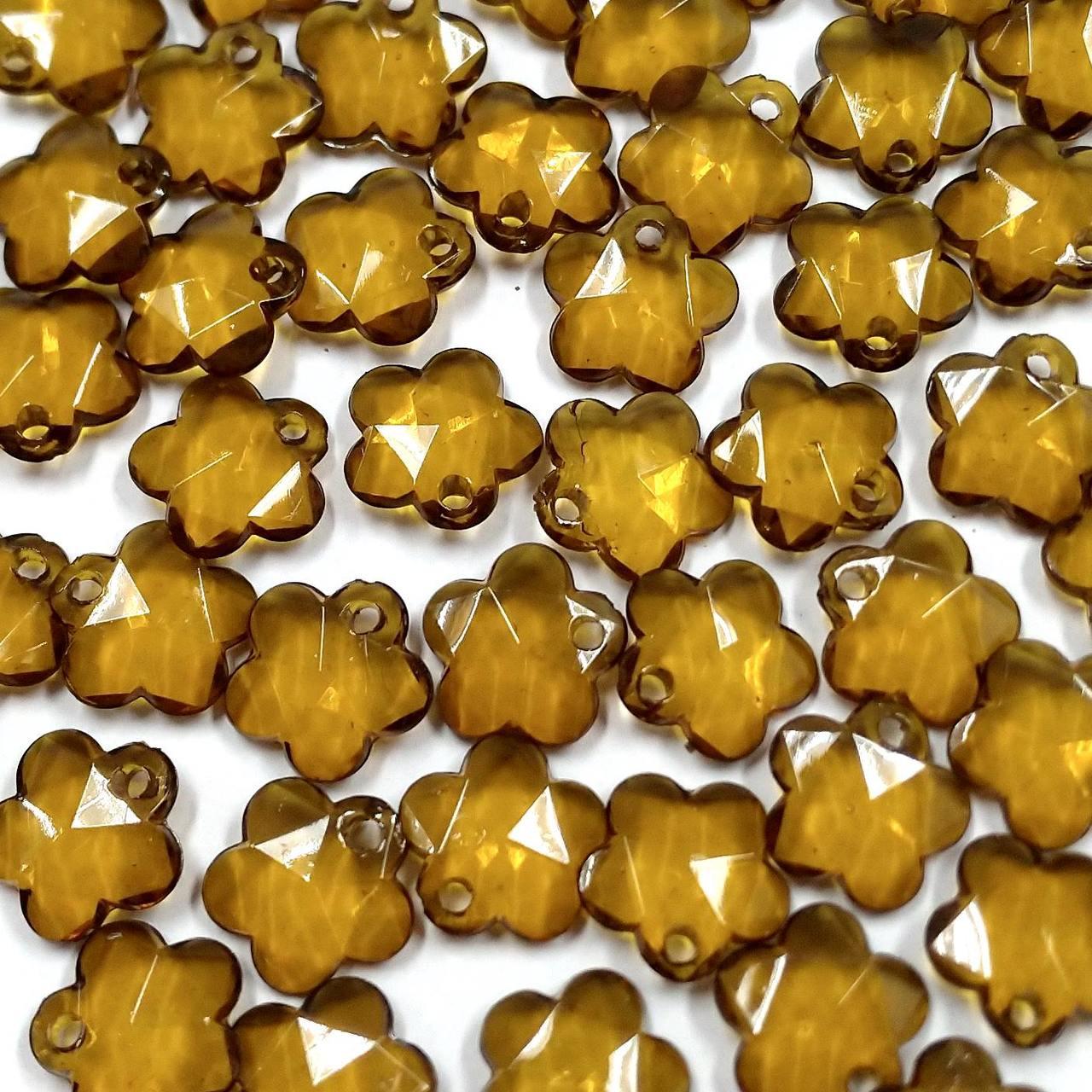 Pingente Acrílico Flor 15mm c/ 250g