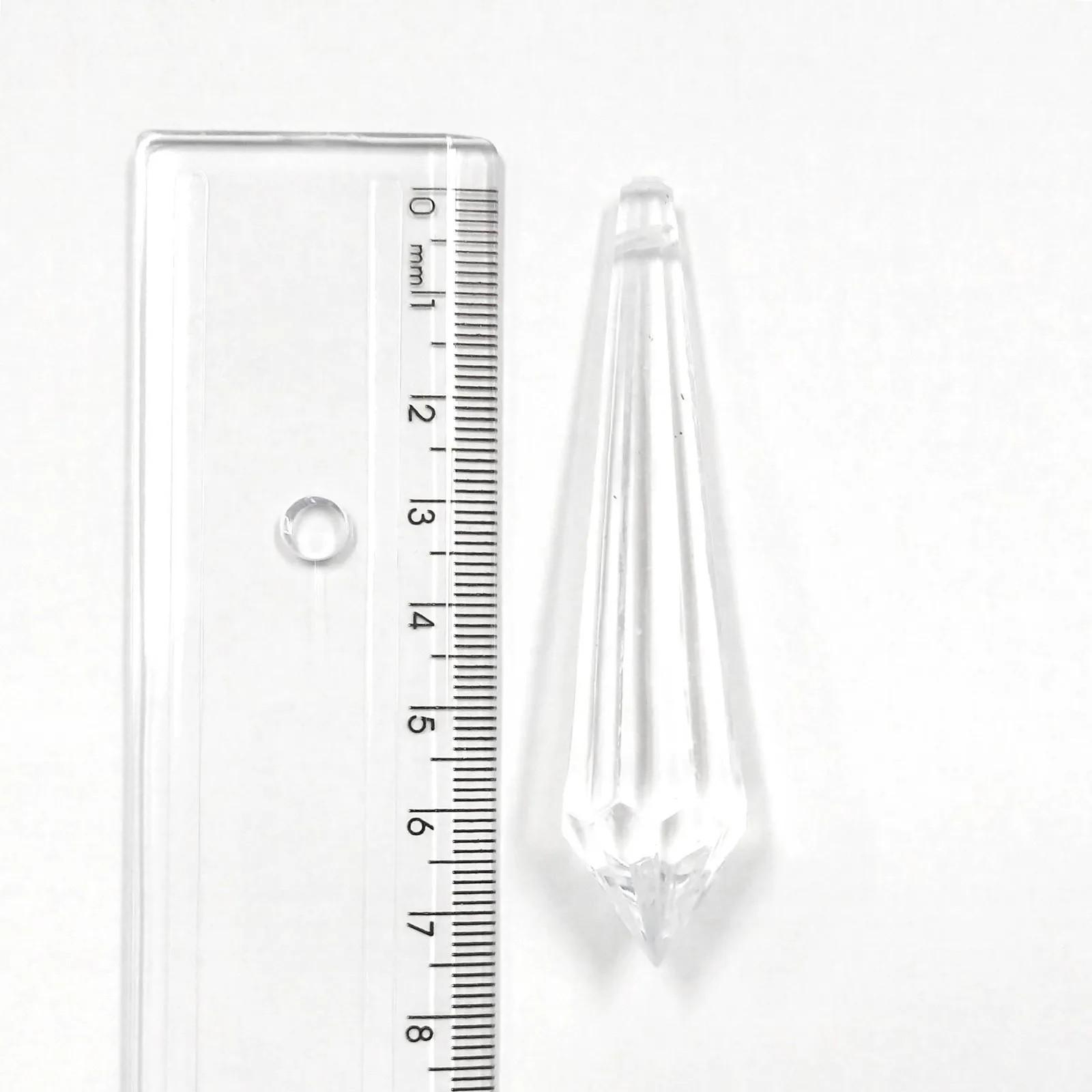 Pingente Acrílico Pirulito 75x17,5mm Pacote com 500g