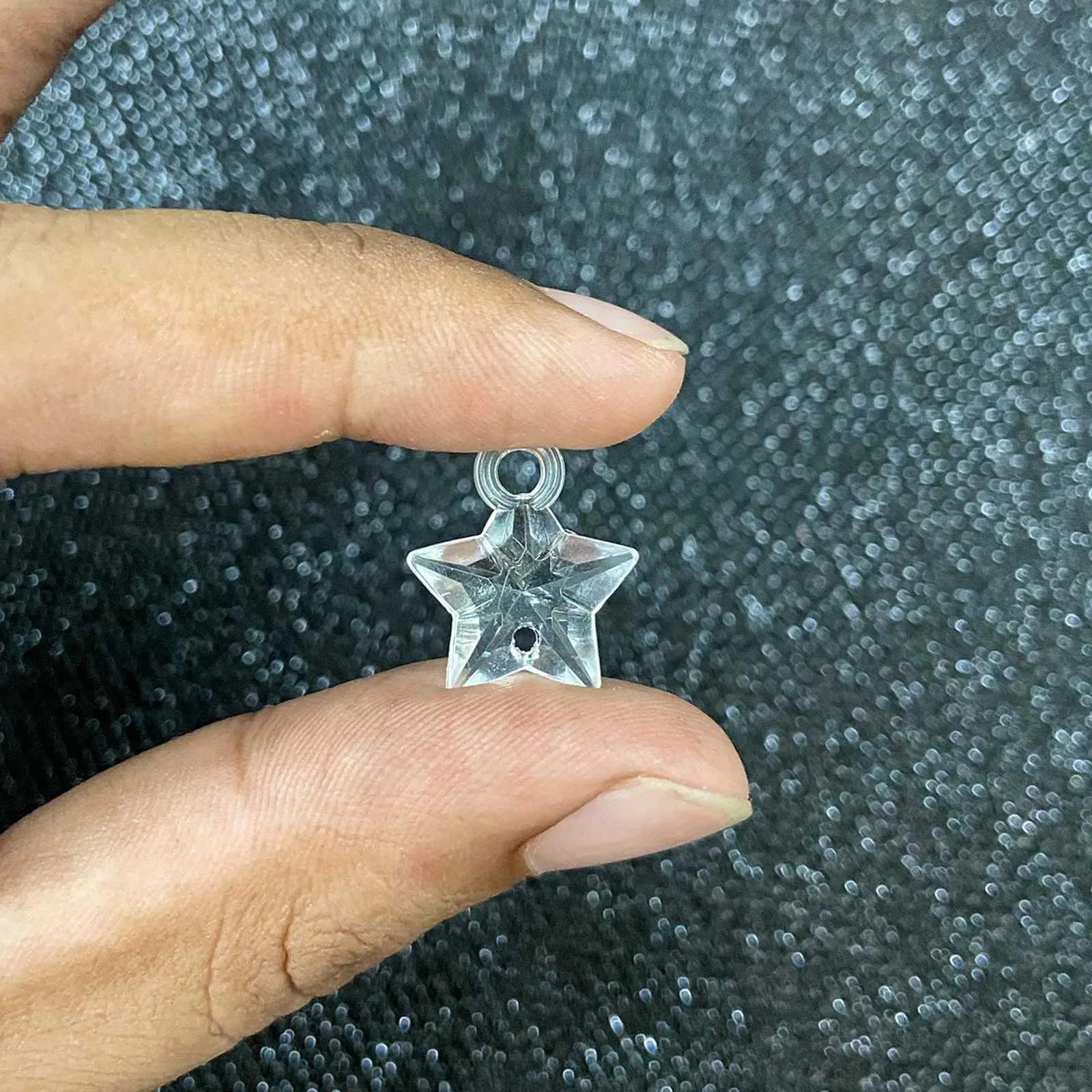 Pingente Estrela Acrílico 16mm - 50g