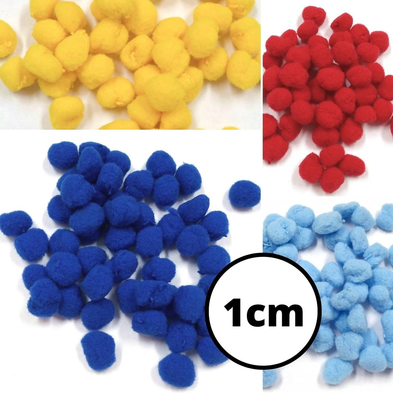 Pom Pom Solto 1,0cm Britânnia - 50 peças