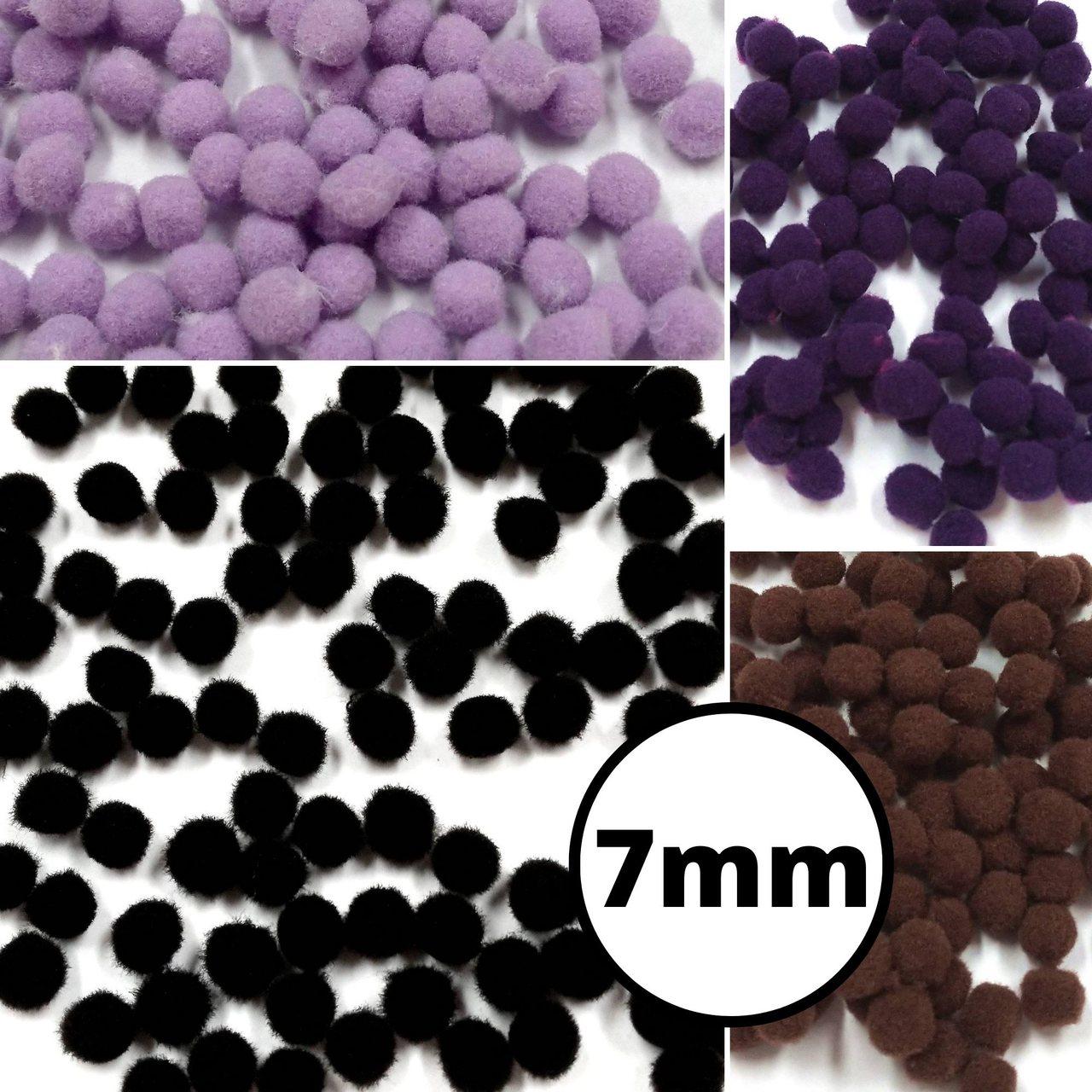 Pom Pom Solto 0,7cm - 100 peças