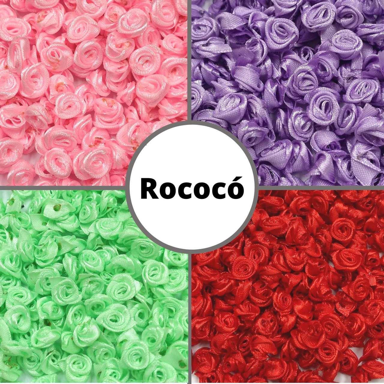 Rococó de 9 a 15mm s/ Folha - Pacote c/ 900 peças