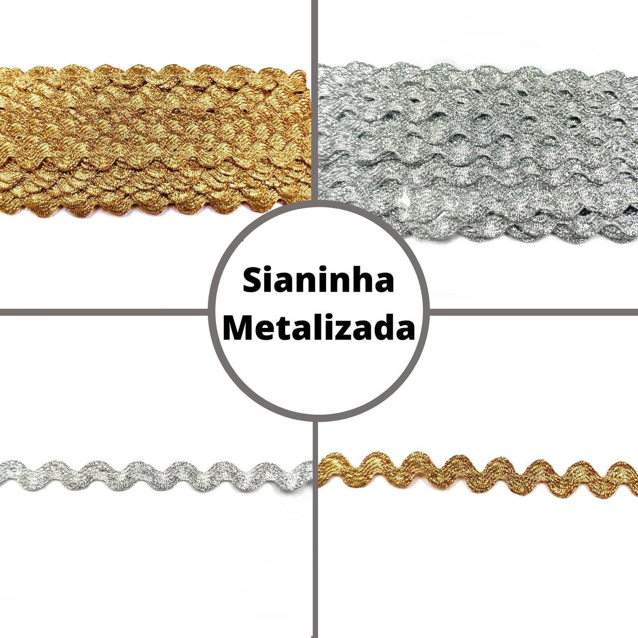 Sianinha Metalizada 5mm - Galão c/ 10 metros