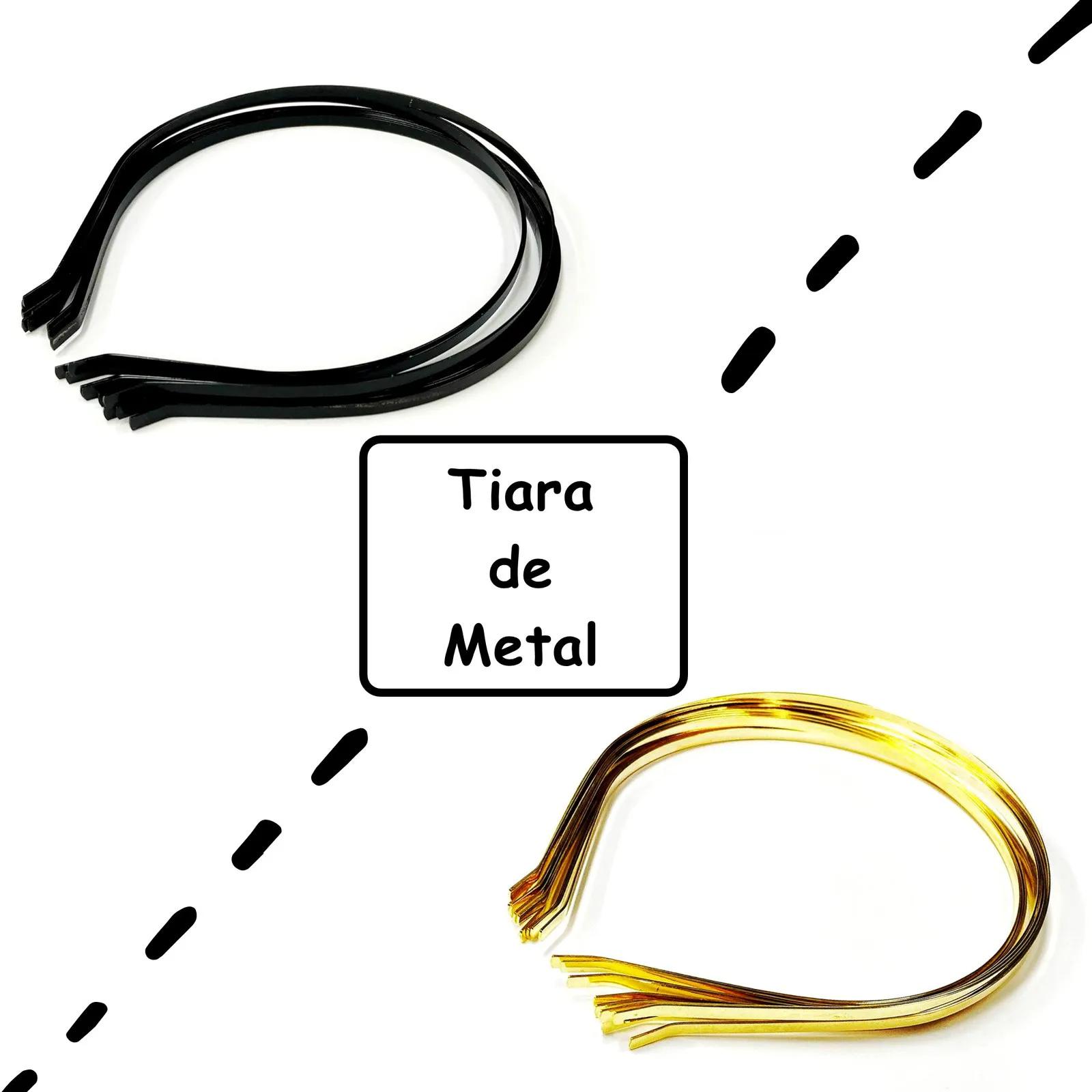 Tiara de metal - pacote com 12 unidades