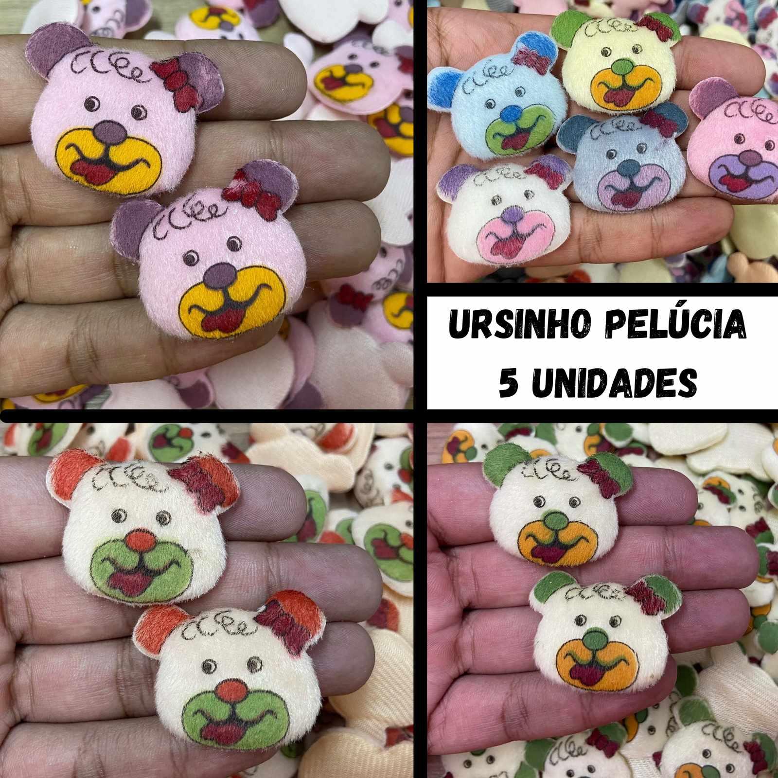 Ursinho Pelúcia - 5 unidades