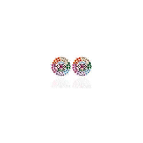 Brinco Olho Grego Zircônias Colors | Otávio Giora Shop