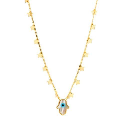 Colar Gargantilha Olho Grego com Estrelas Ouro | Joias em Prata e Semijoias