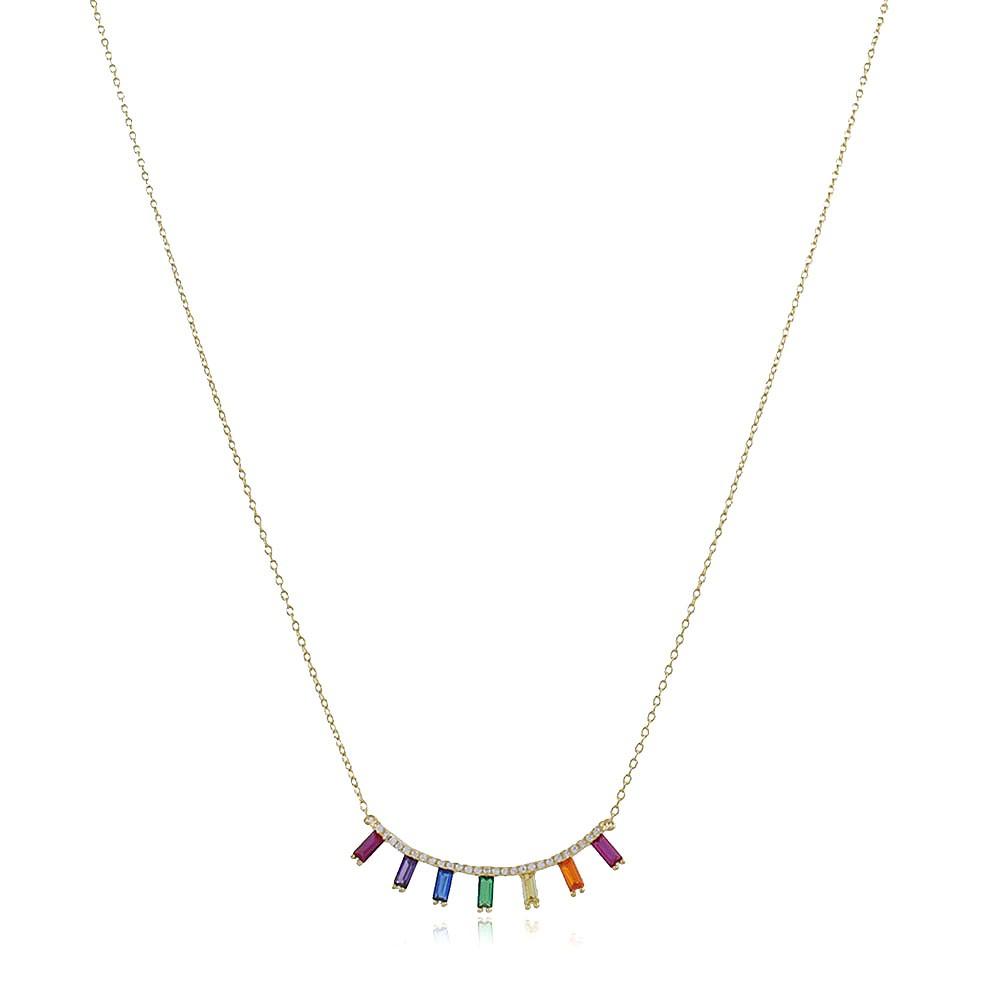 Gargantilha Zirconia Rainbow