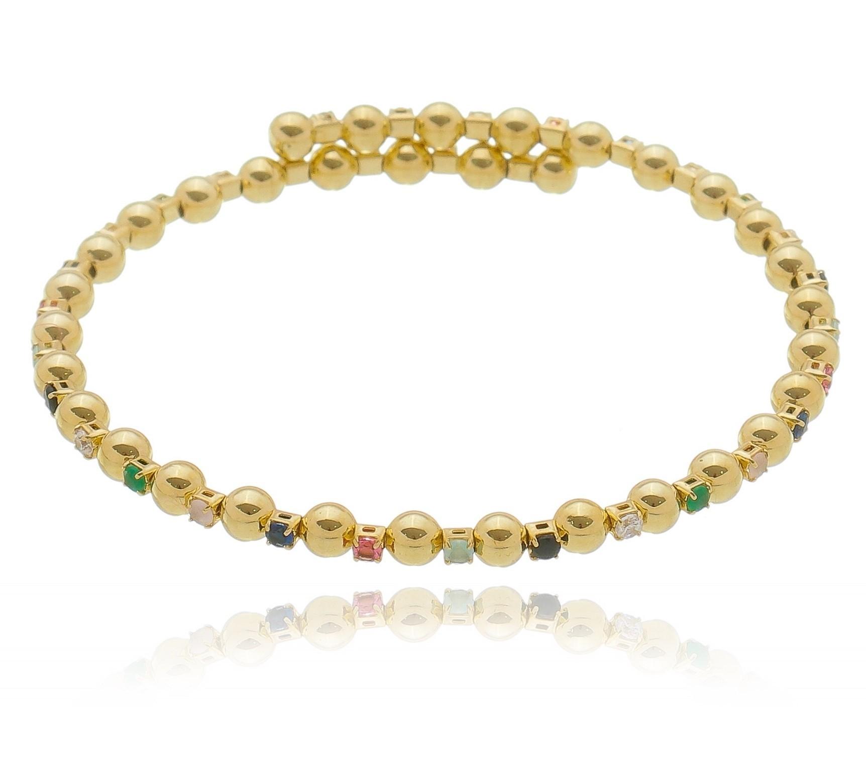 pulseira Bolinha Ouro