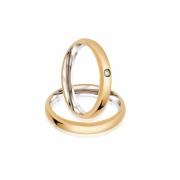 Alianças  de Noivado Ouro e Aço  Tradicional 3mm