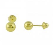 Brinco de Ouro 18K Bebê Bola 2,5mm