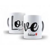 Canecas Casal Porcelana Love