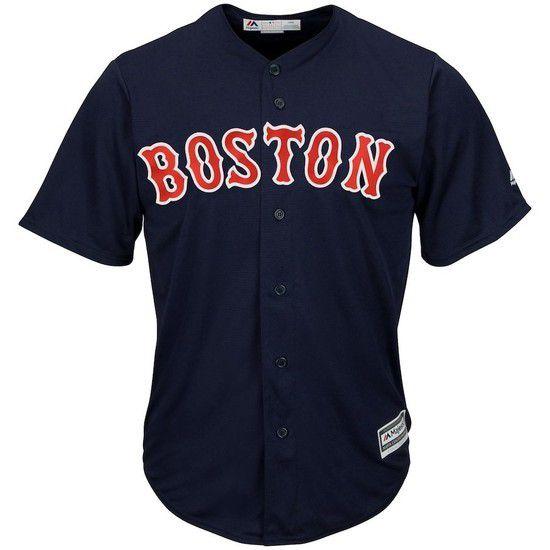 Camisa Beisebol Majestic Boston Red Sox - Azul/Vermelho