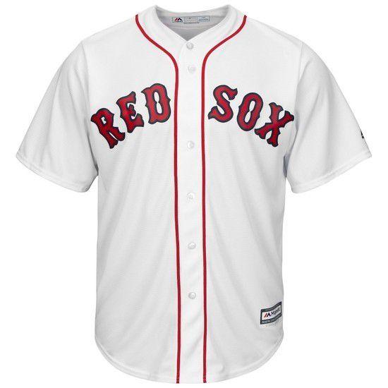 Camisa Beisebol Majestic Boston Red Sox - Branco/Vermelho