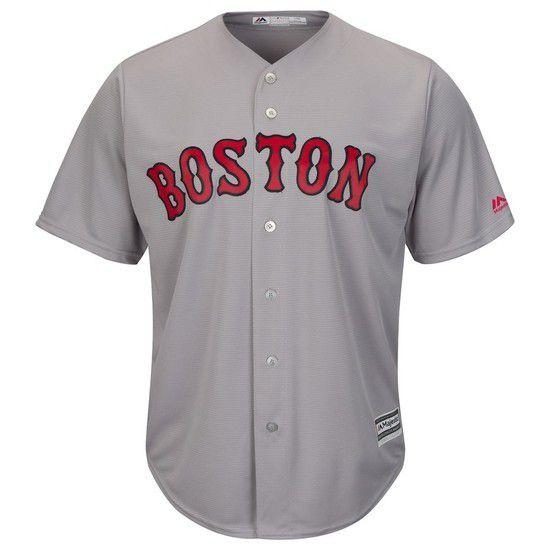 Camisa Beisebol Majestic Boston Red Sox - Cinza/Vermelho