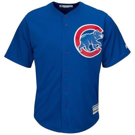 Camisa Beisebol Majestic Chicago Cubs - Azul/Vermelho