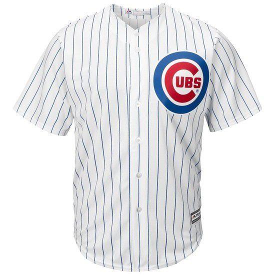Camisa Beisebol Majestic Chicago Cubs - Branco/Azul