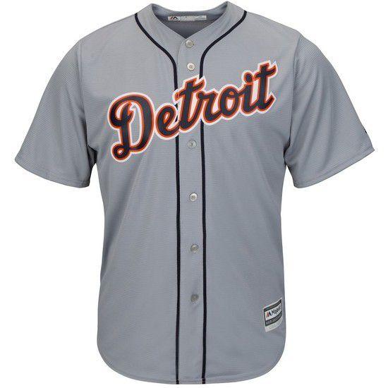 Camisa Beisebol Majestic Detroit Tigers - Branco/Azul