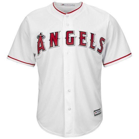 Camisa Beisebol Majestic Los Angeles Angels - Branco/Vermelho