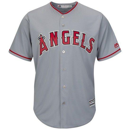Camisa Beisebol Majestic Los Angeles Angels - Cinza/Vermelho