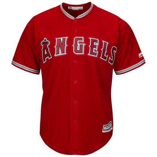Camisa Beisebol Majestic Los Angeles Angels - Vermelho