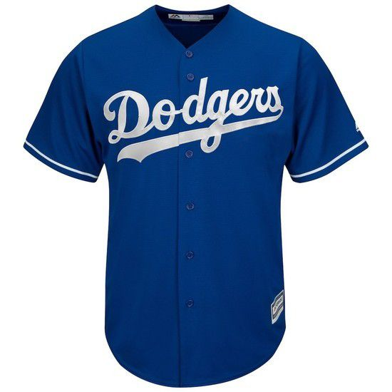 Camisa Beisebol Majestic Los Angeles Dodgers - Azul/Branco