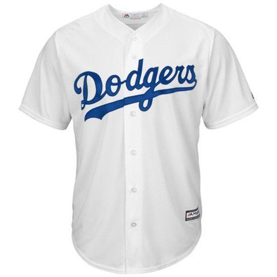 Camisa Beisebol Majestic Los Angeles Dodgers - Branco/Azul
