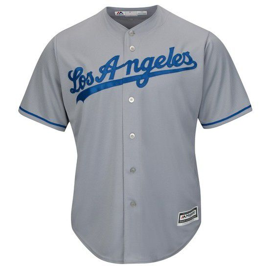 Camisa Beisebol Majestic Los Angeles Dodgers - Cinza/Azul