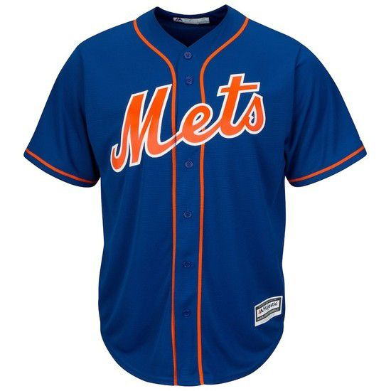 Camisa Beisebol Majestic New York Mets - Azul/Laranja