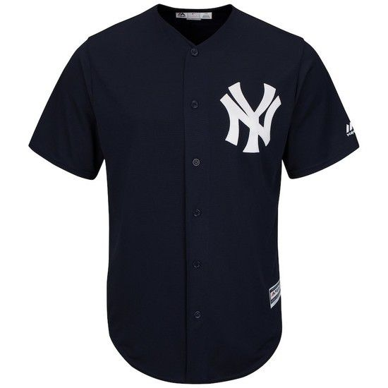 Camisa Beisebol Majestic New York Yankees - Azul/Branco