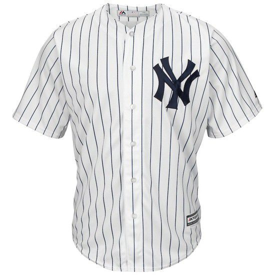 Camisa Beisebol Majestic New York Yankees - Branco/Azul