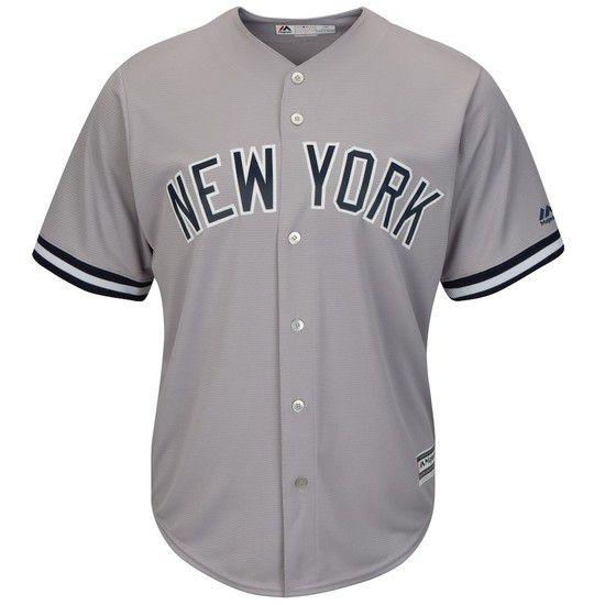 Camisa Beisebol Majestic New York Yankees - Cinza/Azul