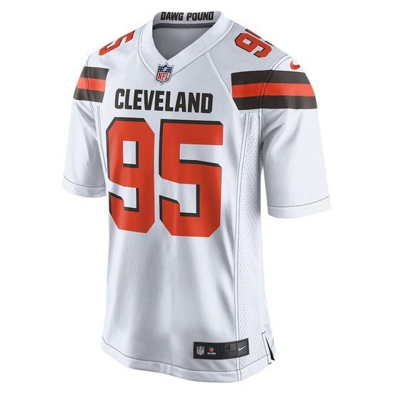 Camisa Futebol Americano Nike Cleveland Browns - Branco/Laranja