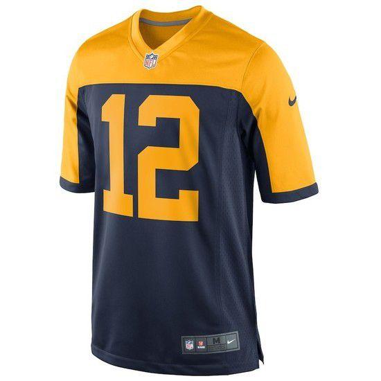 Camisa Futebol Americano Nike Green Bay Packers - Azul/Amarelo