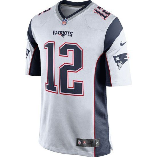 Camisa Futebol Americano Nike New England Patriots - Branco/Azul