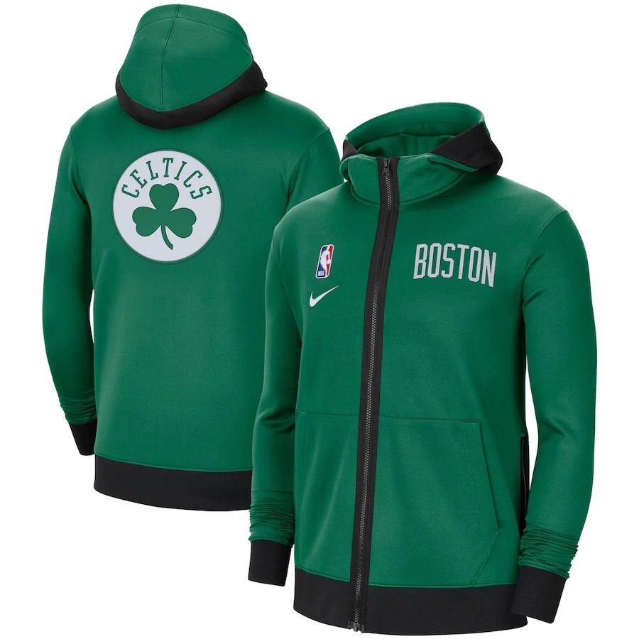 Jaqueta Nike Boston Celtics Authentic Showtime Performance Full-Zip