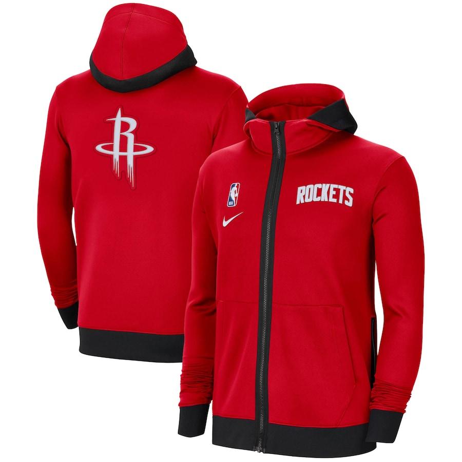 Jaqueta Nike Houston Rockets Authentic Showtime Performance Full-Zip