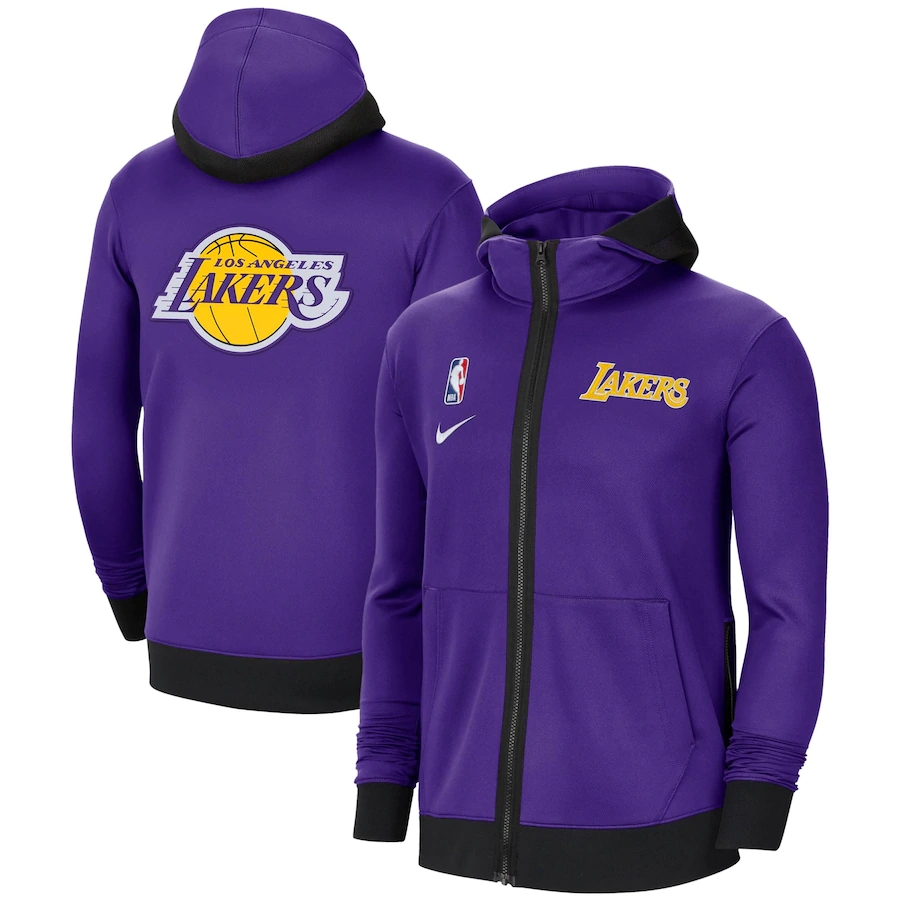 Jaqueta Nike Los Angeles Lakers Authentic Showtime Performance Full-Zip