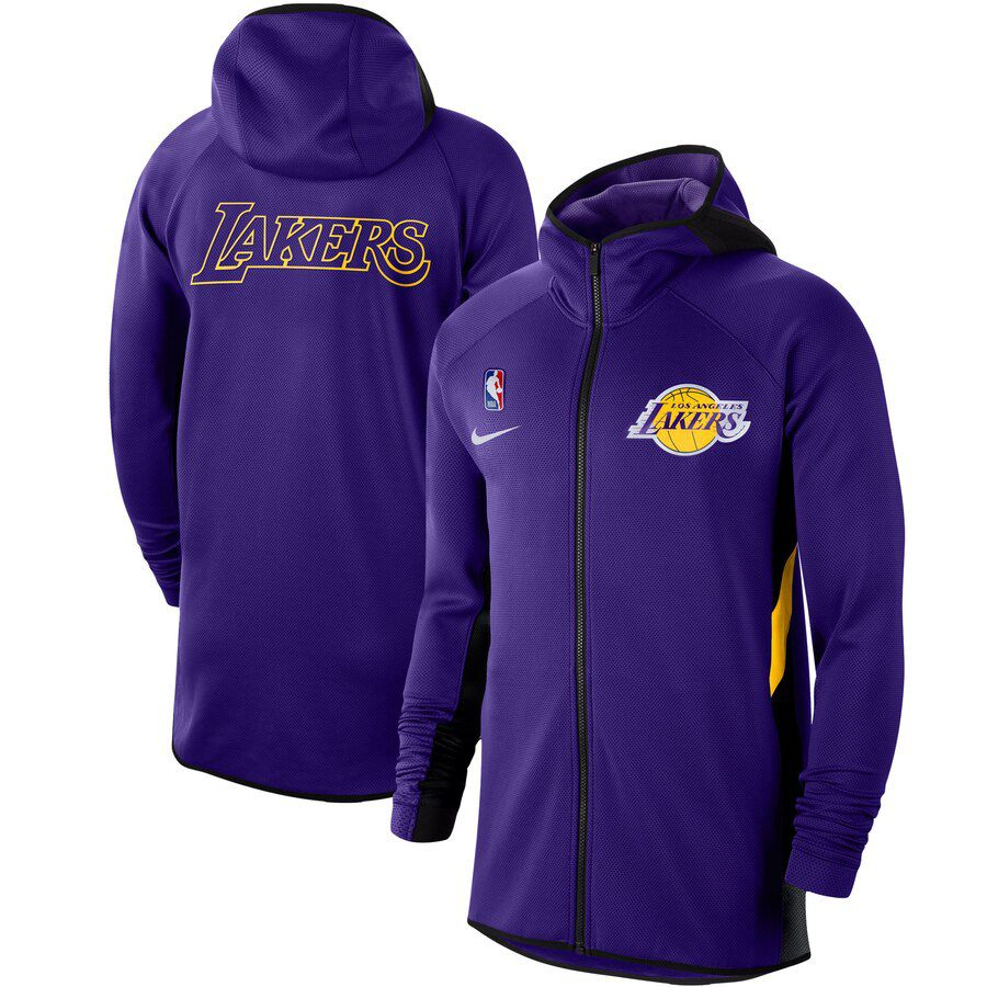 Jaqueta Nike Los Angeles Lakers Authentic Showtime Therma Flex