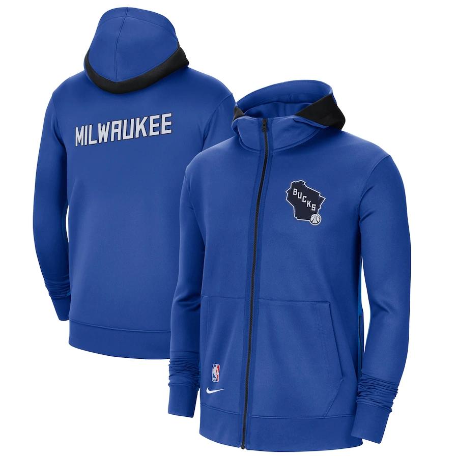 Jaqueta Nike Milwaukee Bucks City Edition 2020/21 Authentic Showtime Performance Full-Zip