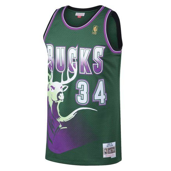 Regata Clássica Mitchell & Ness Milwaukee Bucks Swingman - Verde