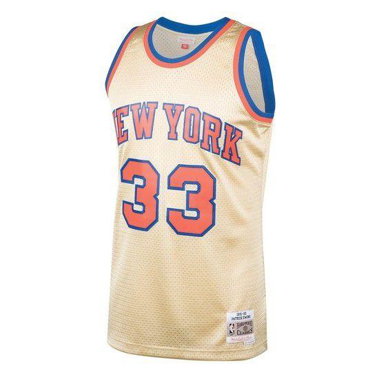 Regata Clássica Mitchell & Ness New York Knicks Swingman - Dourado