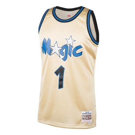 Regata Clássica Mitchell & Ness Orlando Magic Swingman - Dourado