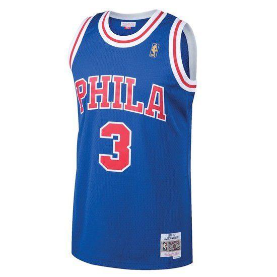 Regata Clássica Mitchell & Ness Philadelphia 76ers Swingman - Azul