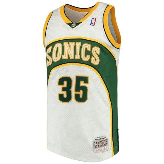 Regata Clássica Mitchell & Ness Seattle SuperSonics Swingman - Branco